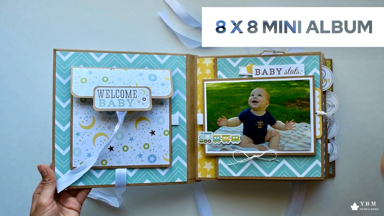 baby boy mini album tutorial