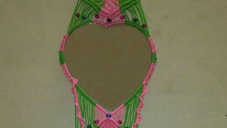 macrame mirror wall hanging tutorial