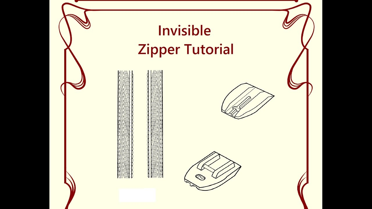 invisible zipper foot tutorial