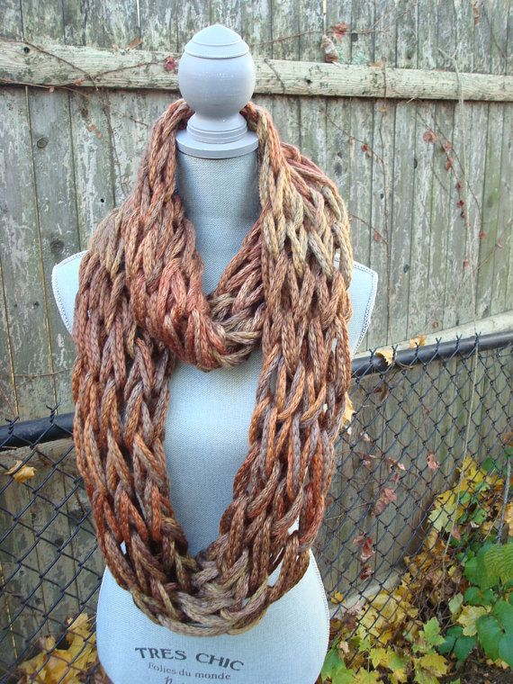 arm knit infinity scarf tutorial