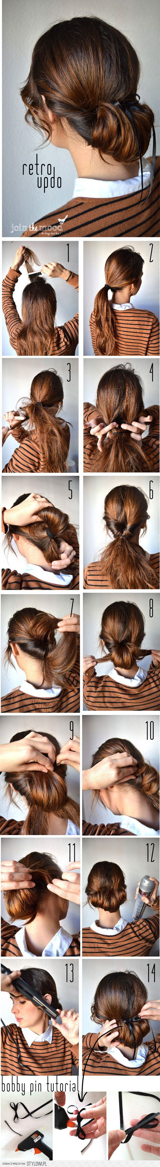 easy hair updo tutorial