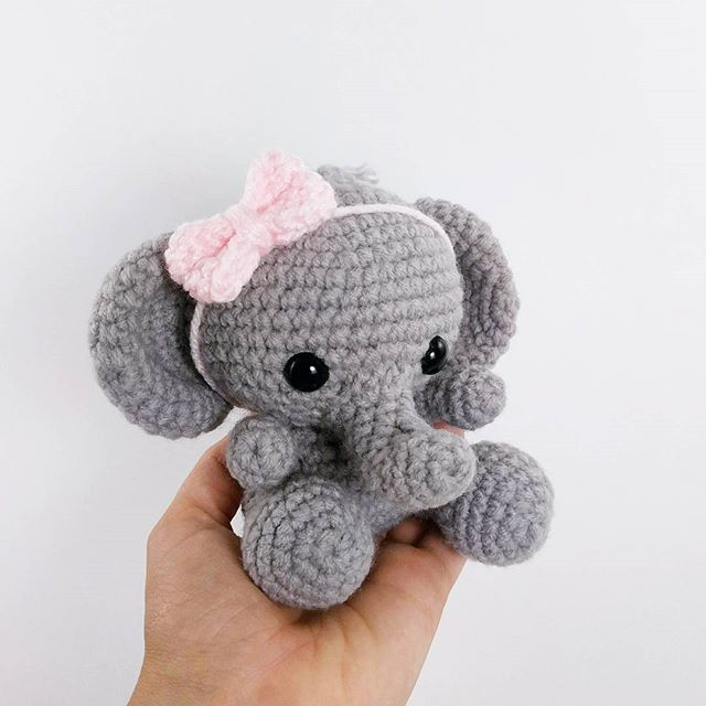 crochet elephant pillow tutorial
