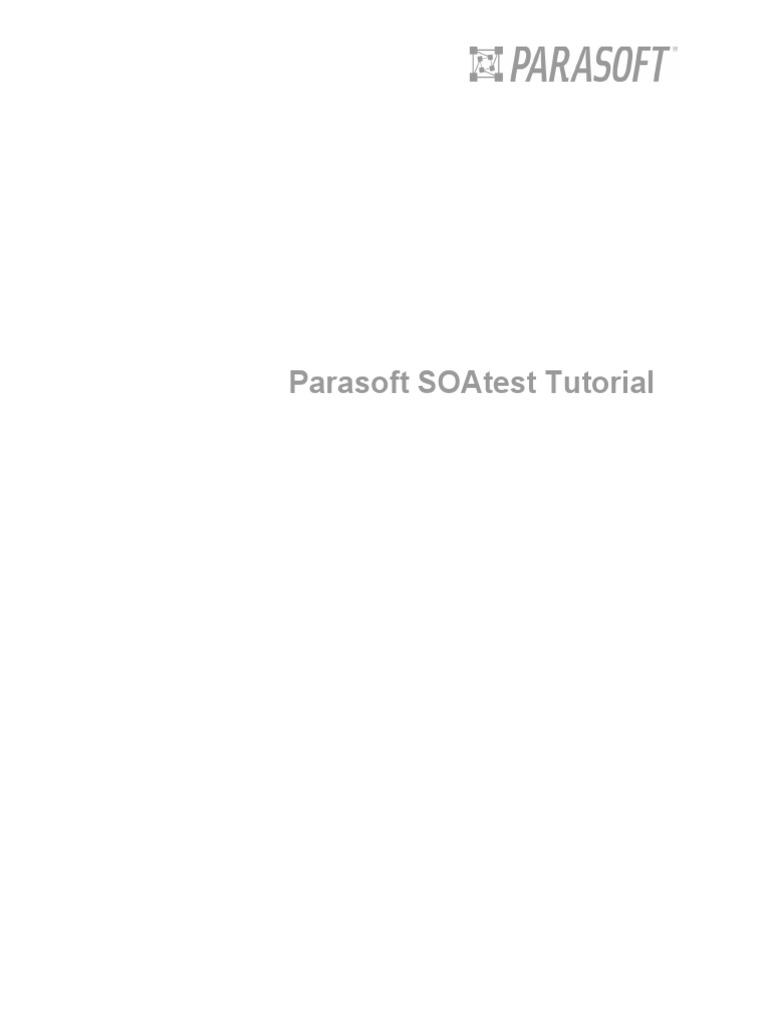 parasoft soatest tutorial pdf