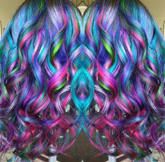 multi color hair dye tutorial