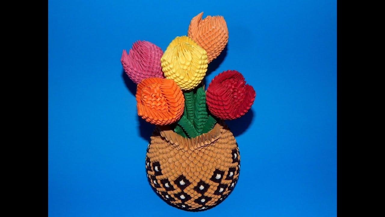 3d origami flower tutorial