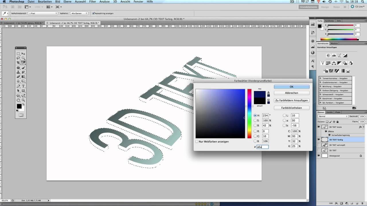3d text photoshop cs5 tutorial