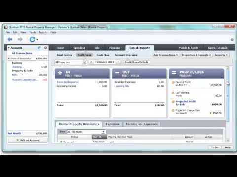 quicken rental property manager 2017 tutorial