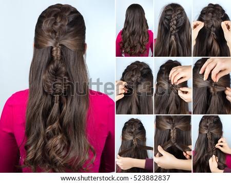 long hair curls tutorial