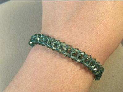 beaded tennis bracelet tutorial