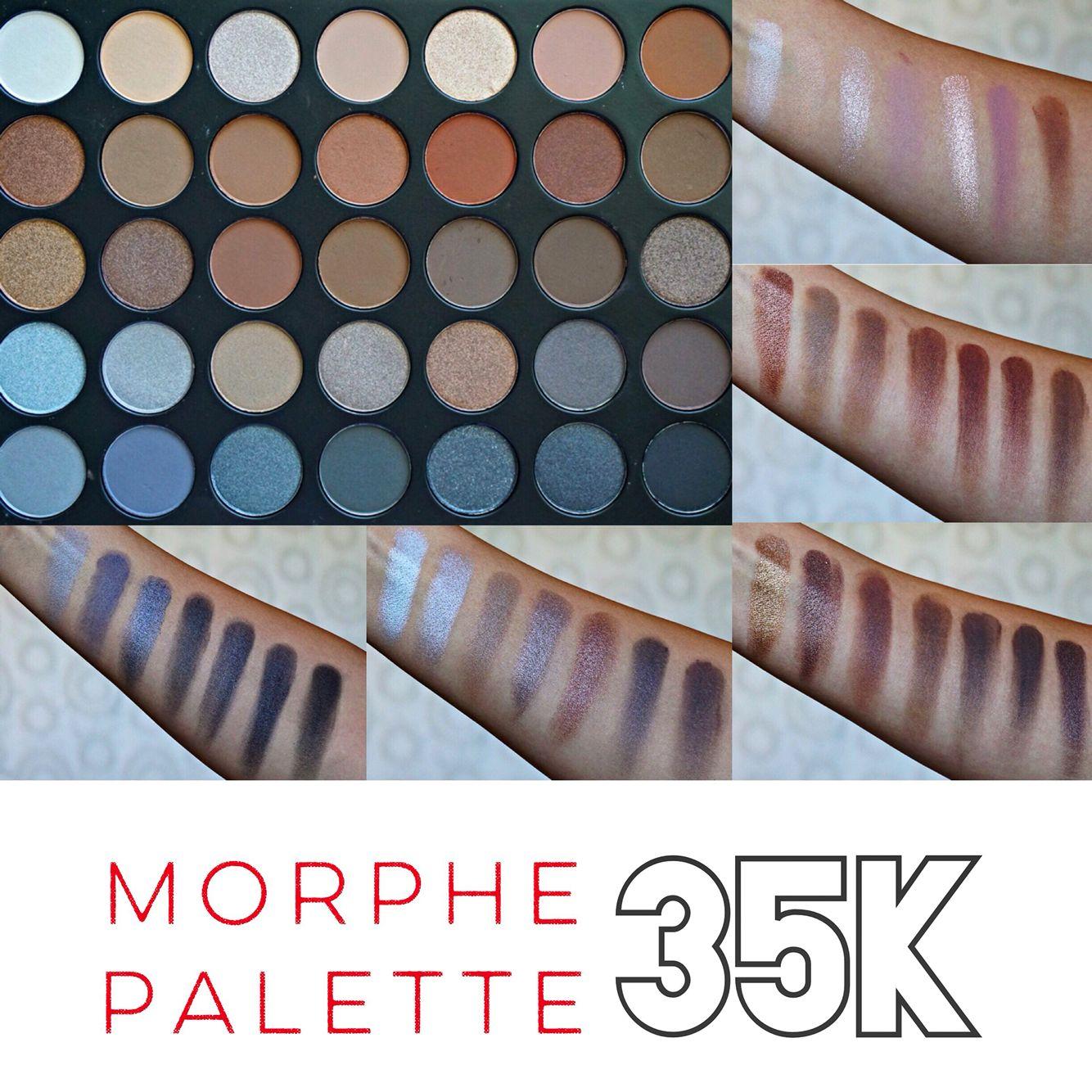morphe 35t palette tutorial