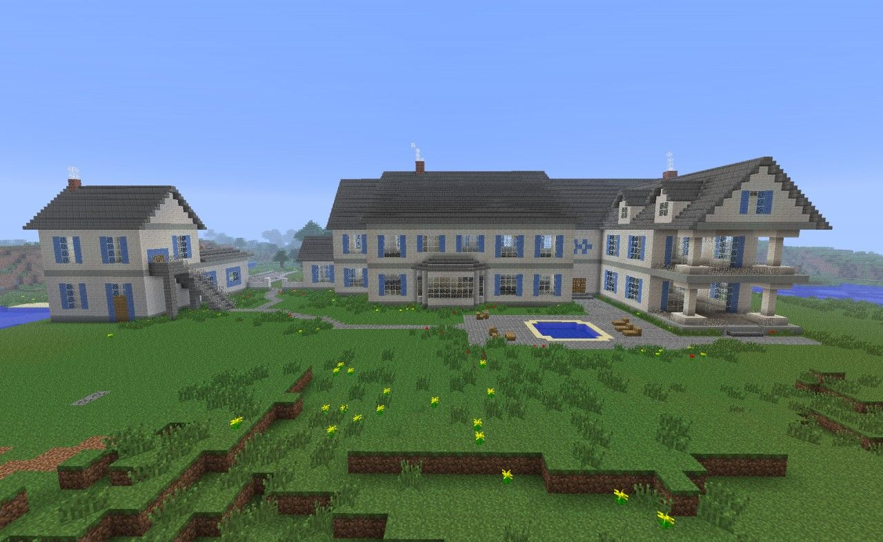 minecraft big mansion tutorial
