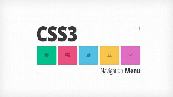 css3 navigation menu tutorial