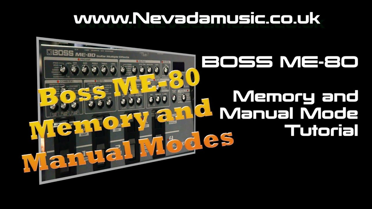 boss me 80 tutorial