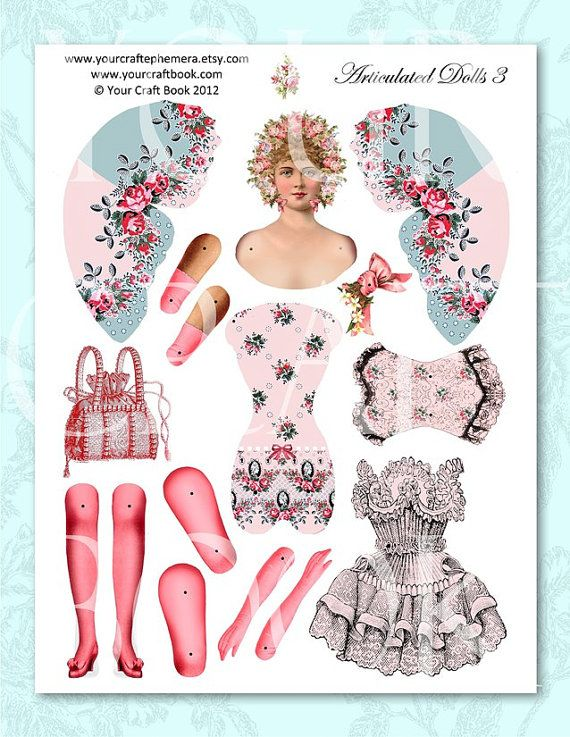jointed paper doll tutorial