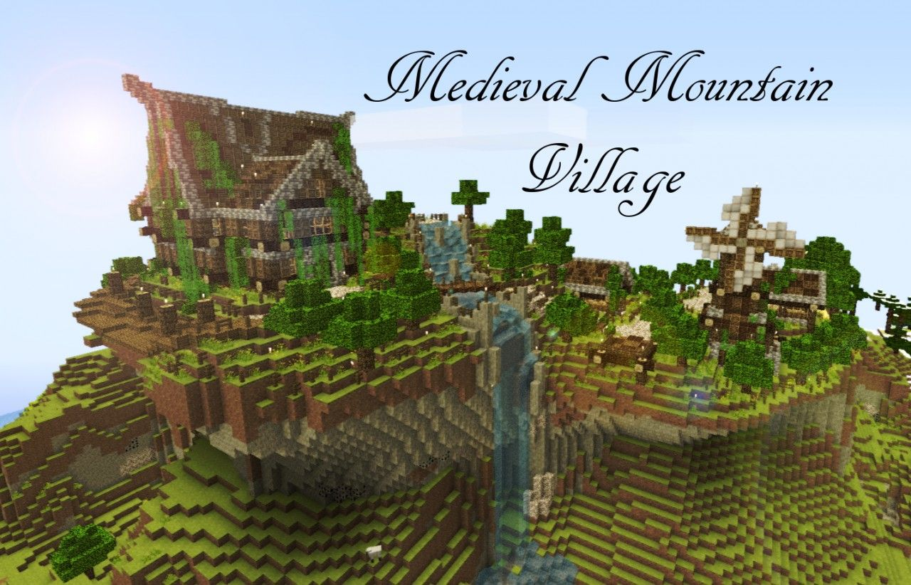 minecraft mountain house tutorial