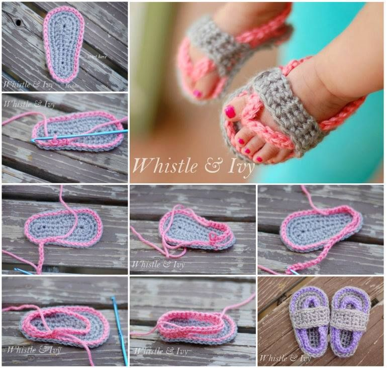 how to crochet baby sandals tutorial youtube