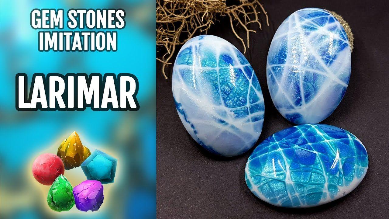 polymer clay gemstones tutorial