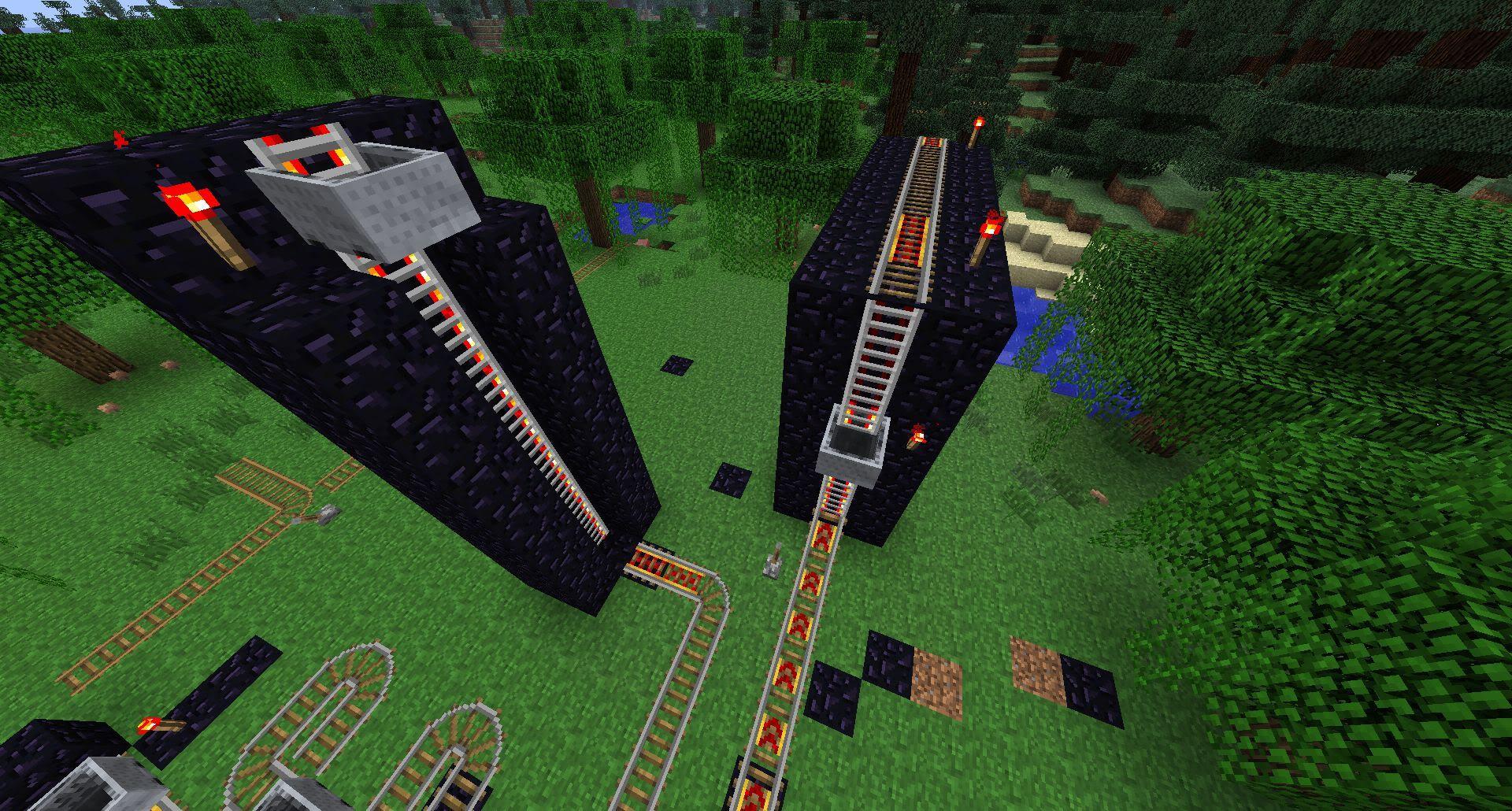 minecraft powered rail tutorial
