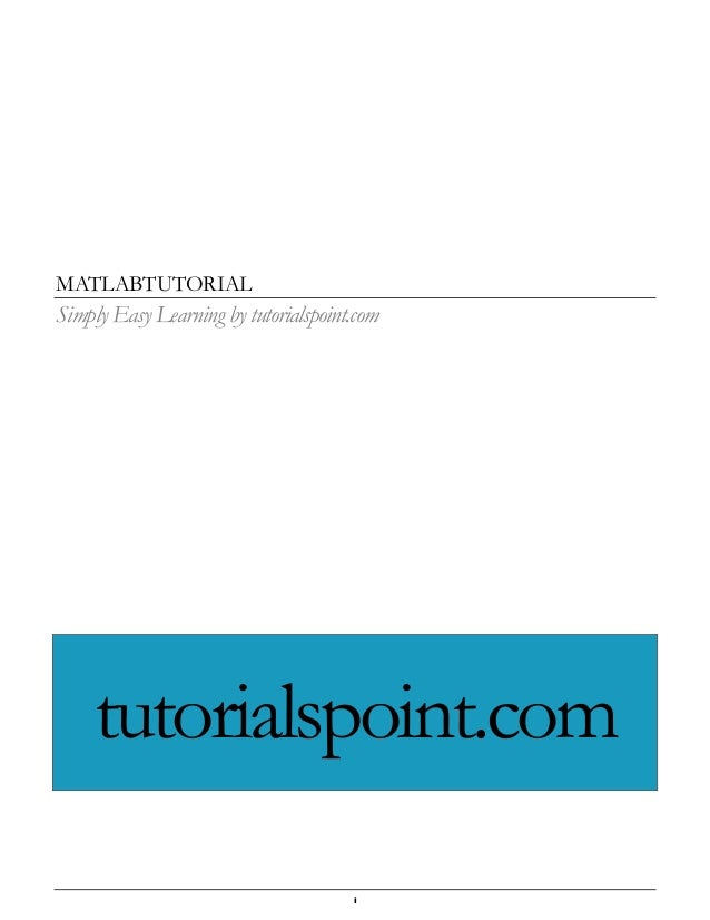 matlab linear algebra tutorial