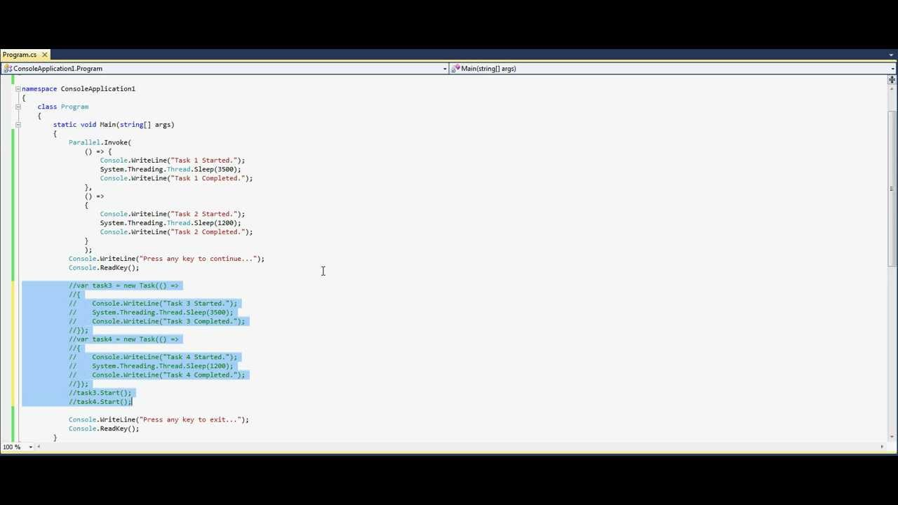 task parallel library tutorial