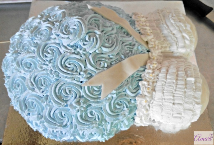 pregnant belly cake tutorial