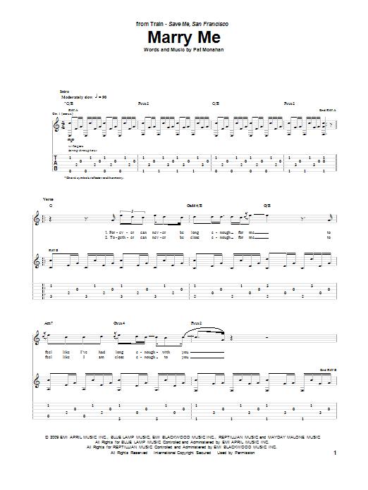 marry me train piano tutorial