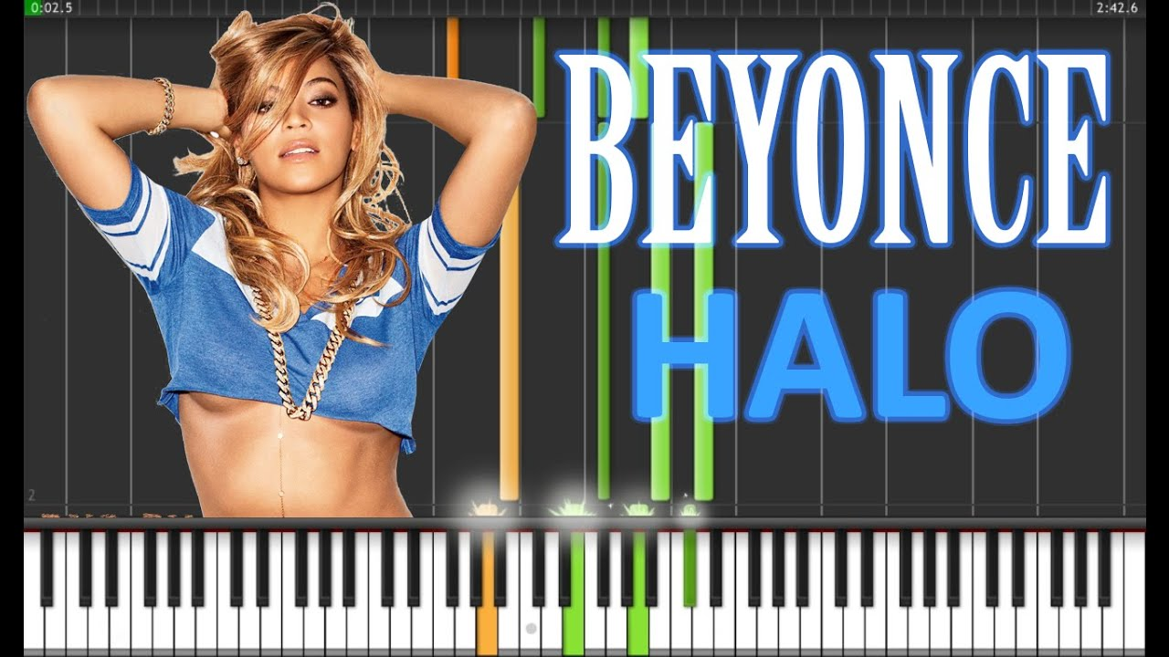 halo beyonce on piano tutorial