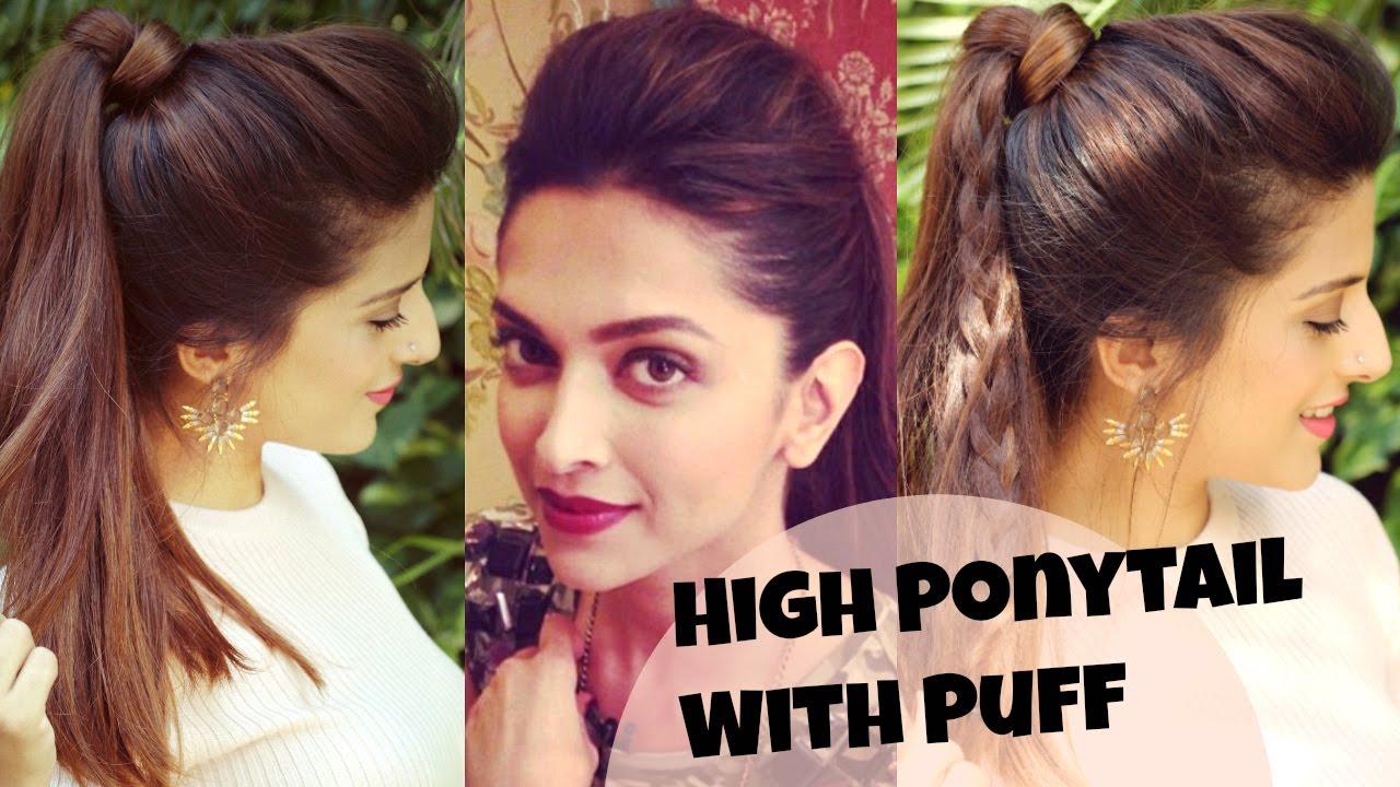 deepika padukone puff hairstyle tutorial