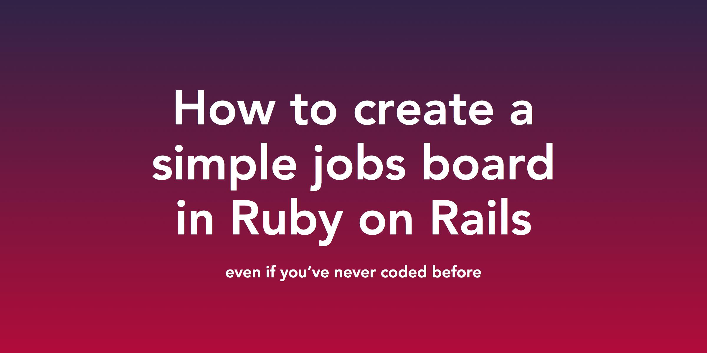 rails tutorial for beginners