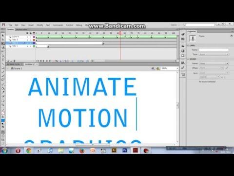 adobe flash cs6 animation tutorial