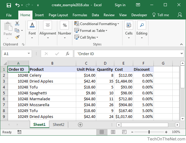 pivot table excel 2016 tutorial