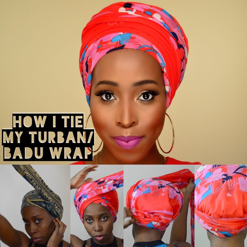 vintage head scarf tutorial