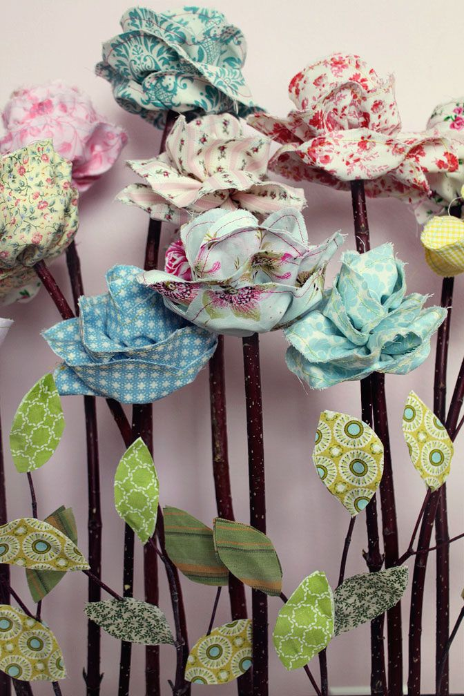 how to make fabric roses tutorial