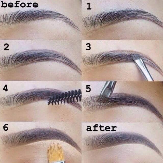 eyebrow tutorial for dark skin