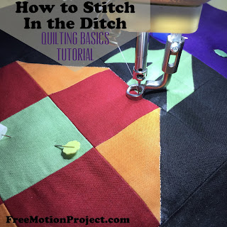 stitch in the ditch tutorial