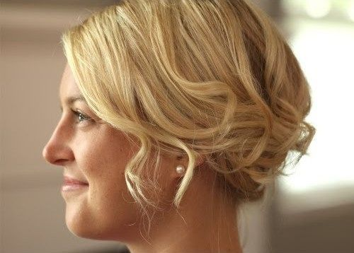 short curly hair updo tutorial
