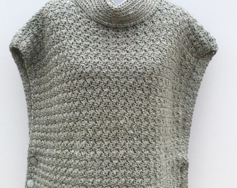 cowl neck poncho crochet tutorial