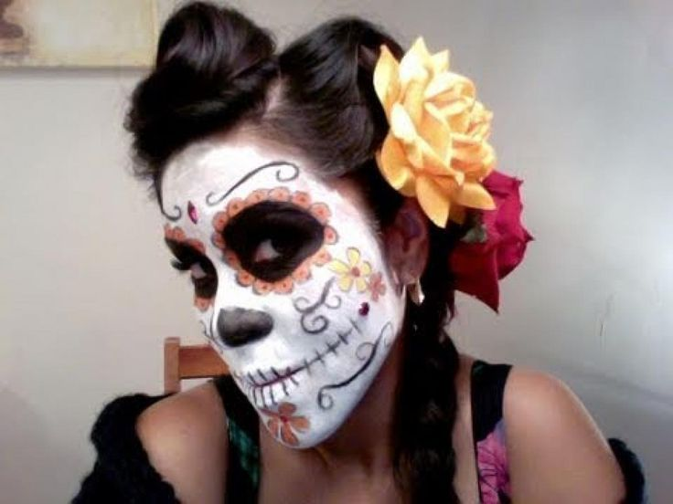 day of the dead hair tutorial