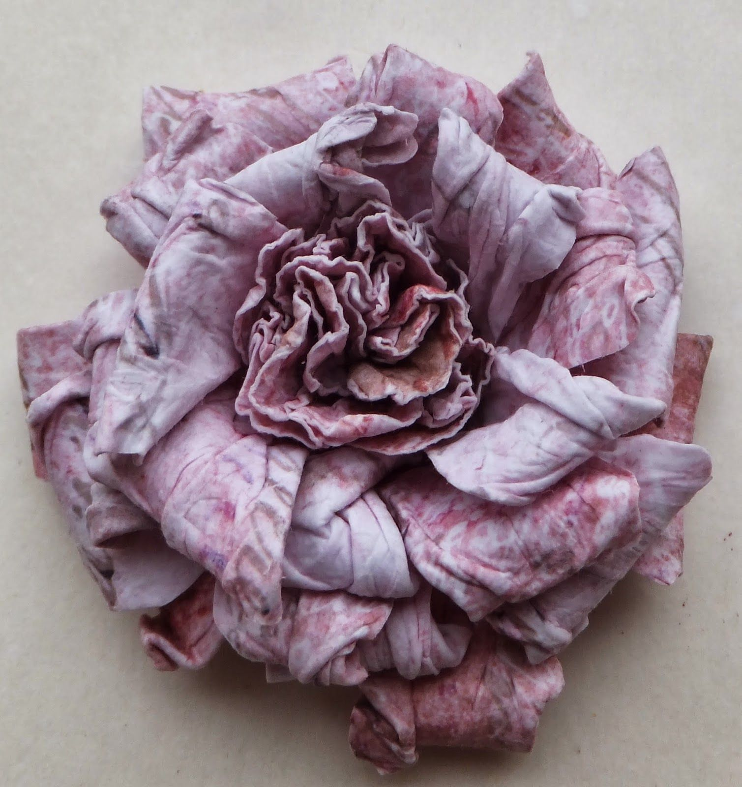 fabric cabbage rose tutorial