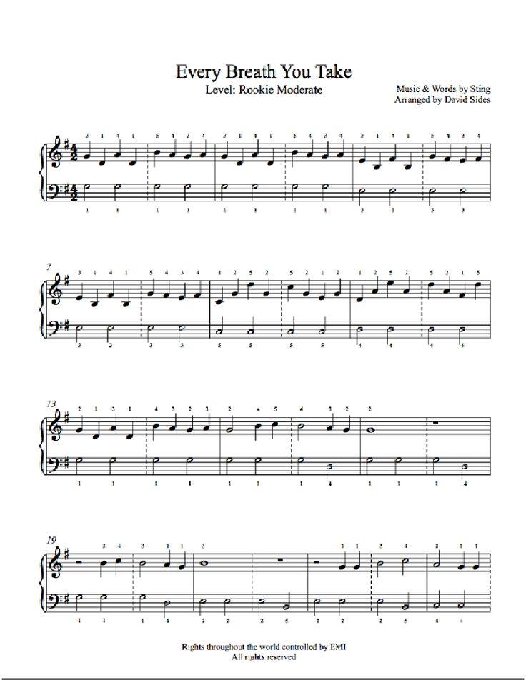 every breath you take piano tutorial