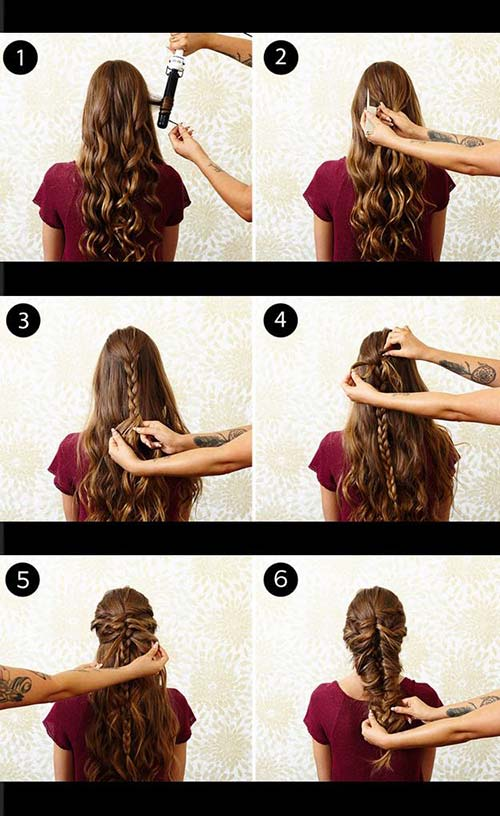 little mermaid hair tutorial