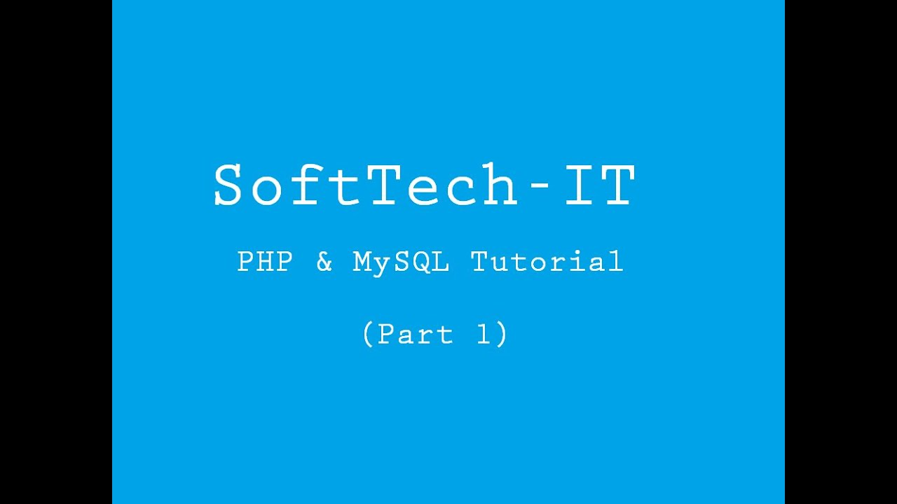 wamp server tutorial mysql
