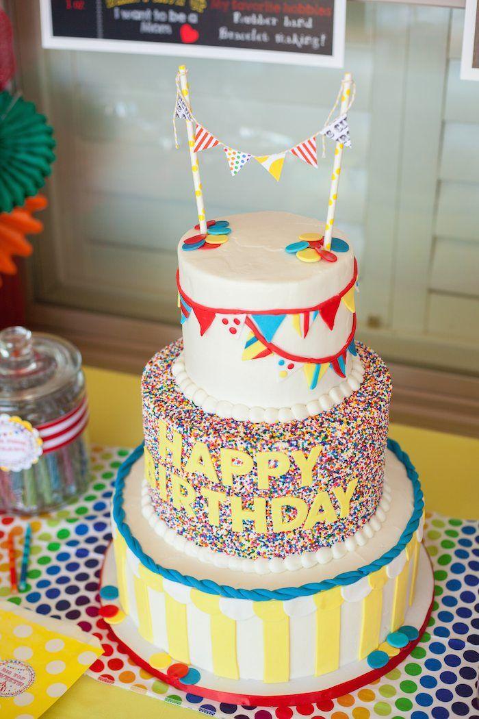 circus tent cake tutorial