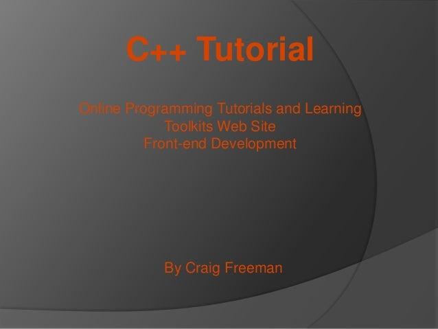 embedded c++ programming tutorial