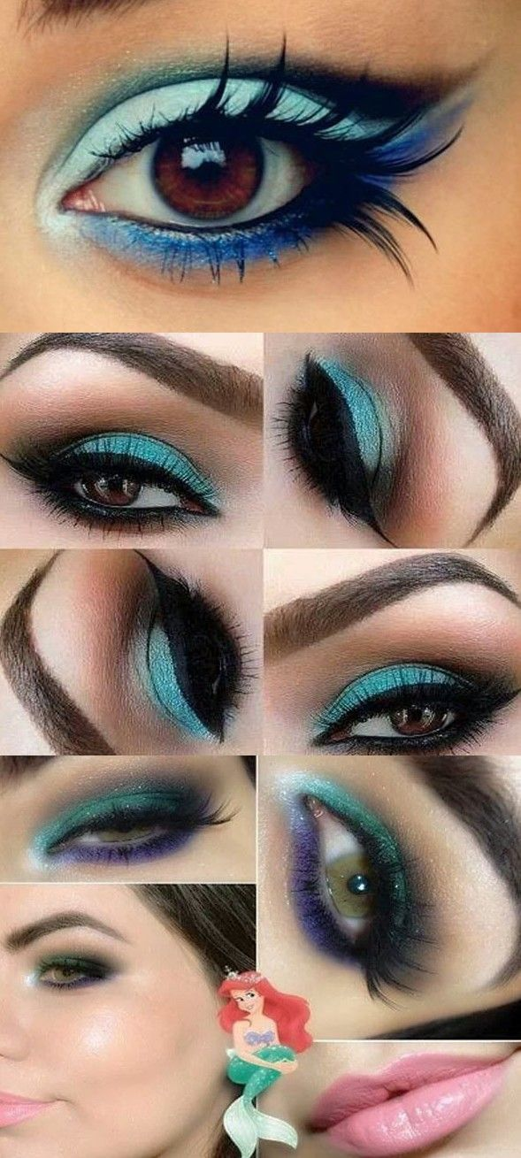 smokey makeup tutorial for blue eyes