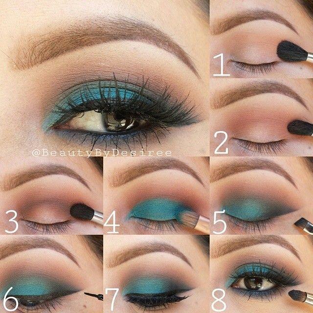 brown eyeshadow tutorial for blue eyes