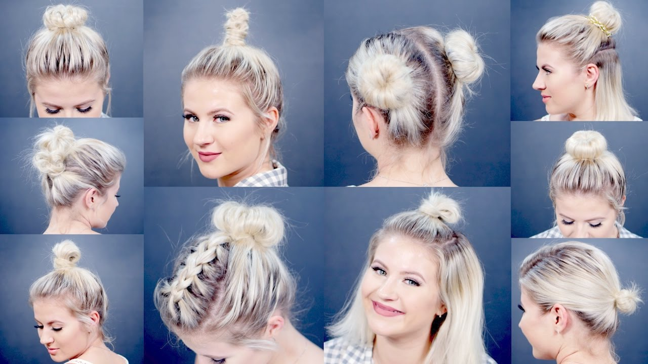 bun for short hair tutorial