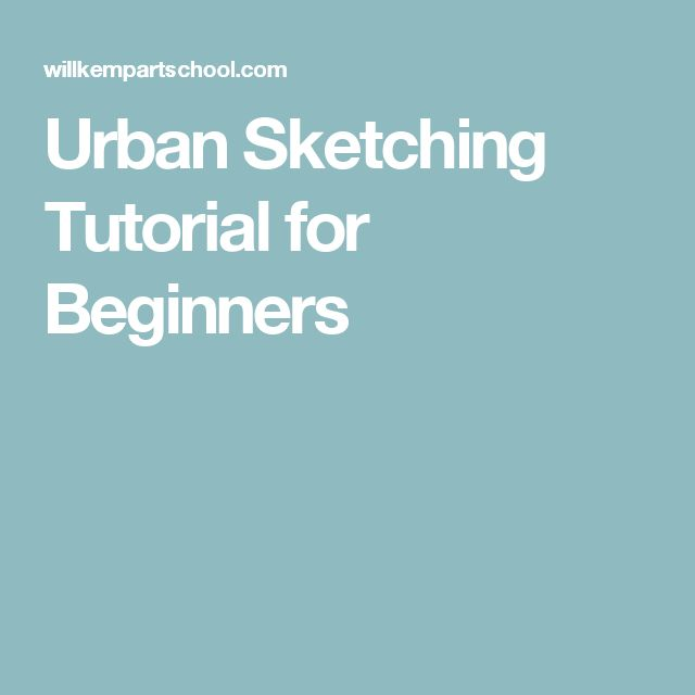 urban sketching tutorial youtube