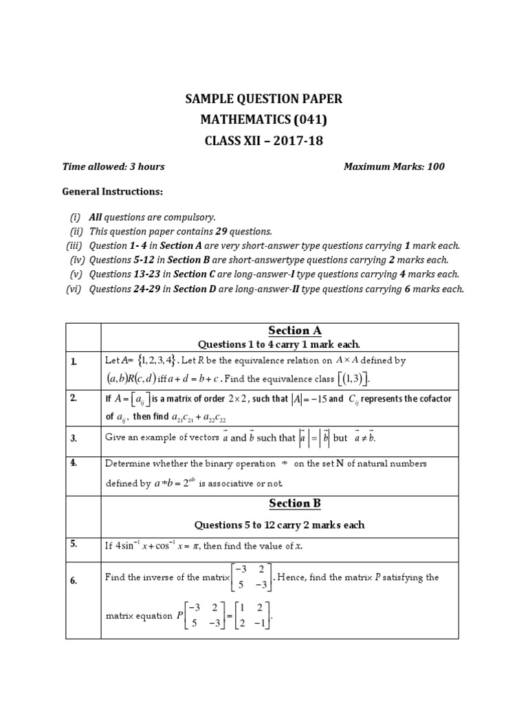 mathematics matrix tutorial pdf