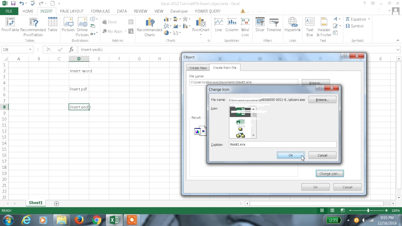excel 2013 tutorial youtube